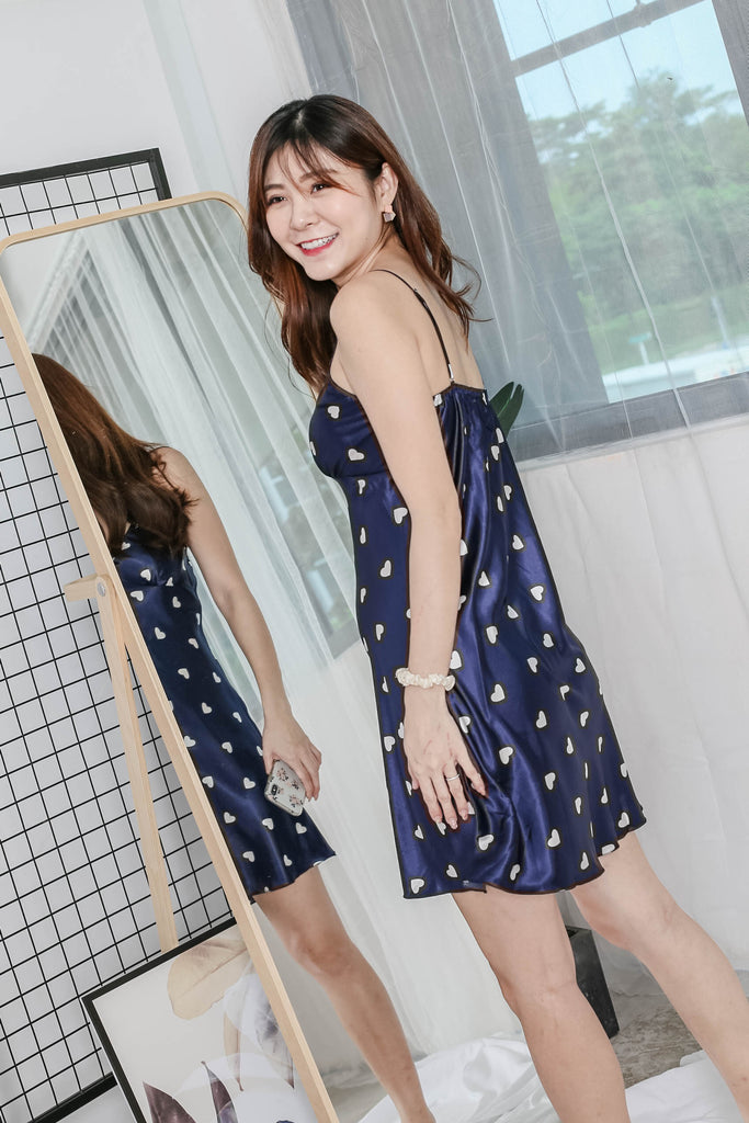 *BACKORDER* HEARTS SLEEP CAMISOLE DRESS + KIMONO ROBE SET