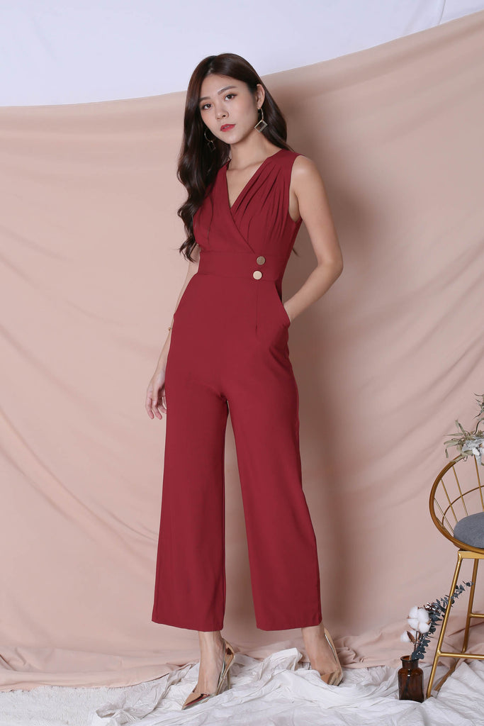 *TPZ* (PREMIUM) FIOZ JUMPSUIT IN WINE - TOPAZETTE