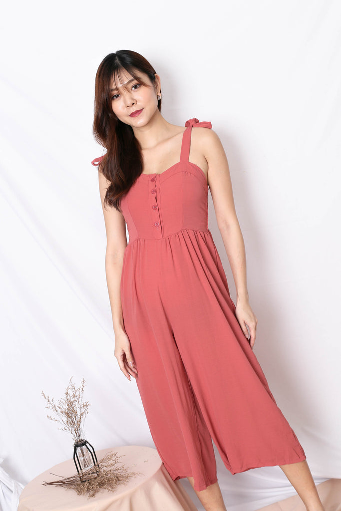 ODEL JUMPSUIT IN CORAL