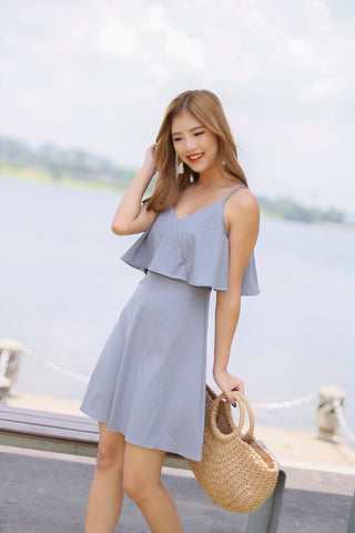 *TPZ* (PREMIUM) LENDON STRIPES DRESS IN GREY