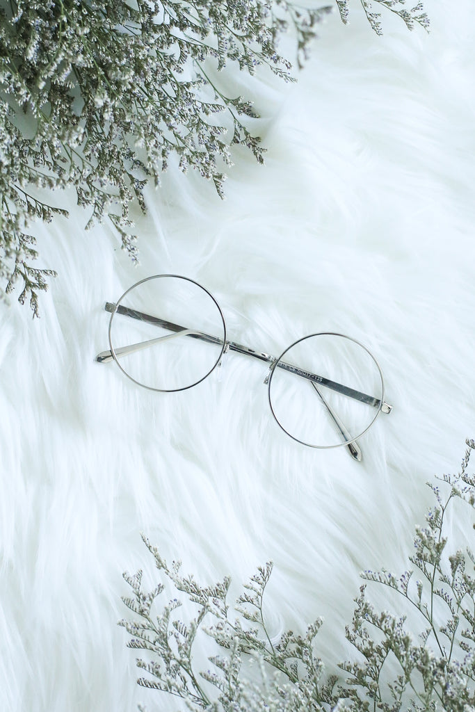 *RESTOCKED* ROUND FRAME GLASSES (BLACK/ SILVER) - TOPAZETTE