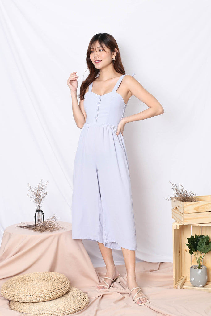 ODEL JUMPSUIT IN GREYISH BLUE