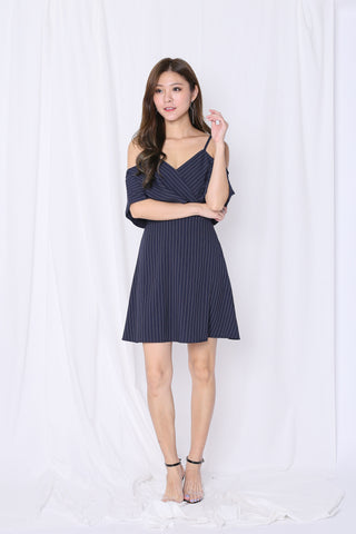 *TPZ* (PREMIUM) LENDON STRIPES DRESS IN NAVY