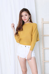 KIN SLOUCH KNIT TOP IN MUSTARD