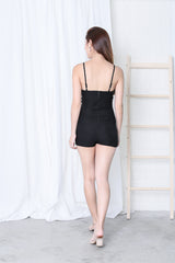 *RESTOCKED* BYN OVERLAP ROMPER IN BLACK