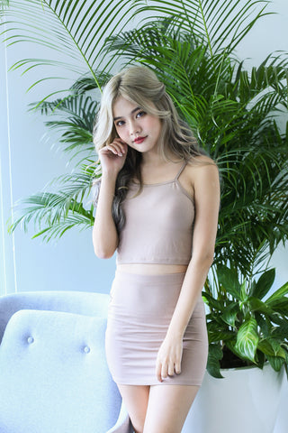 ZYRA OFF DUTY 2 PC SET IN TAUPE
