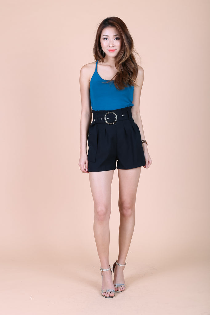 *RESTOCKED* OFF DUTY RACER BACK TOP IN TEAL - TOPAZETTE