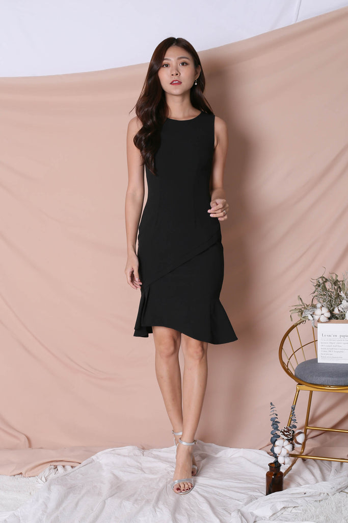 *TPZ* (PREMIUM) VIOLETTA DRESS IN BLACK - TOPAZETTE