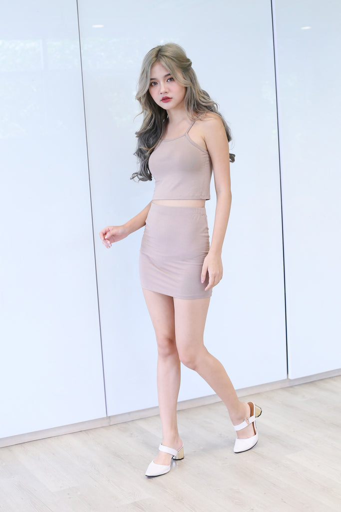 *BACKORDER* ZYRA OFF DUTY 2 PC SET IN TAUPE - TOPAZETTE