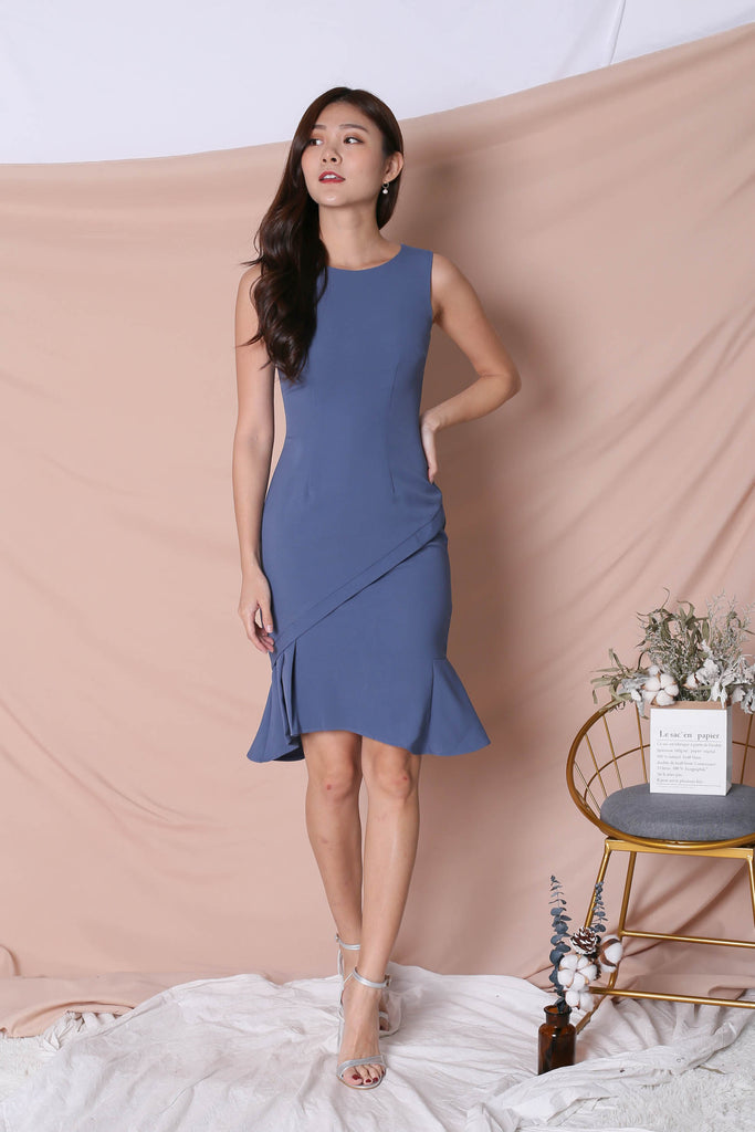 *TPZ* (PREMIUM) VIOLETTA DRESS IN BLUE - TOPAZETTE