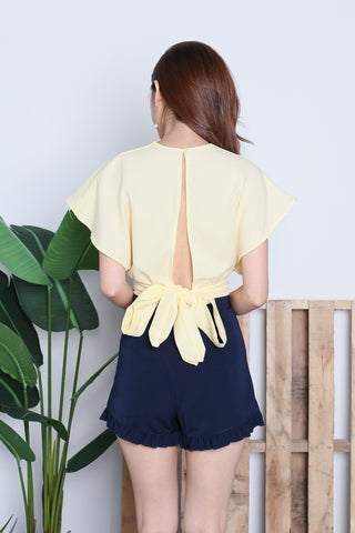 *RESTOCKED* RAE OPEN BACK TOP IN SUNSHINE