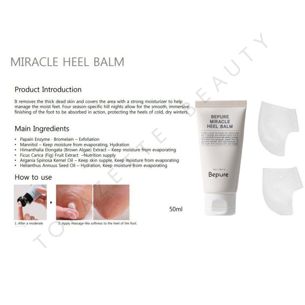 *READY STOCK* BEPURE MIRACLE HEEL BALM - TOPAZETTE