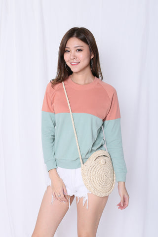 PASTEL PULLOVER (CORAL/ MINT)
