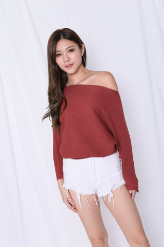 LEIA SLOUCH KNIT TOP IN WATERMELON