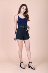 OFF DUTY RACER BACK TOP IN NAVY