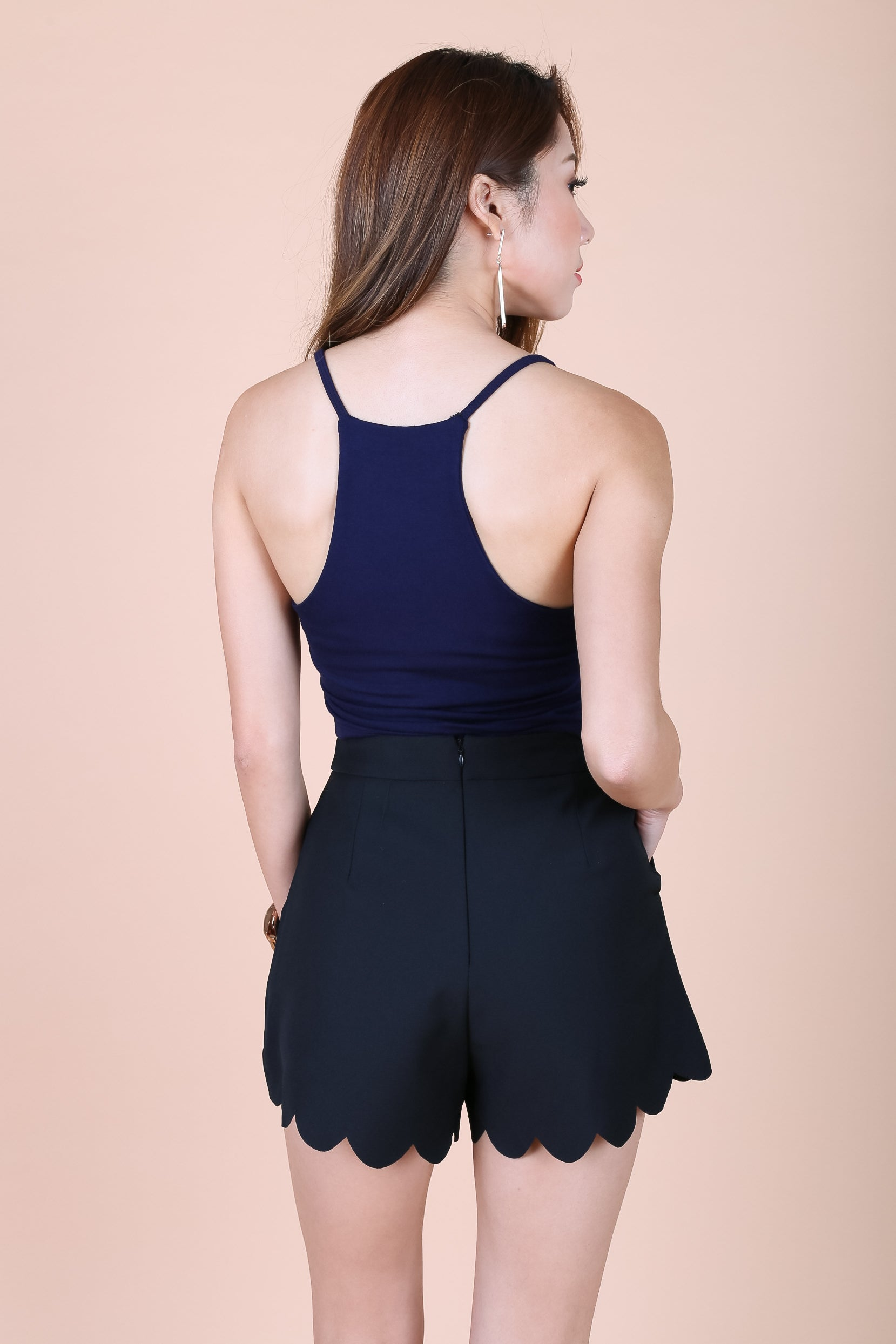 *RESTOCKED* OFF DUTY RACER BACK TOP IN NAVY