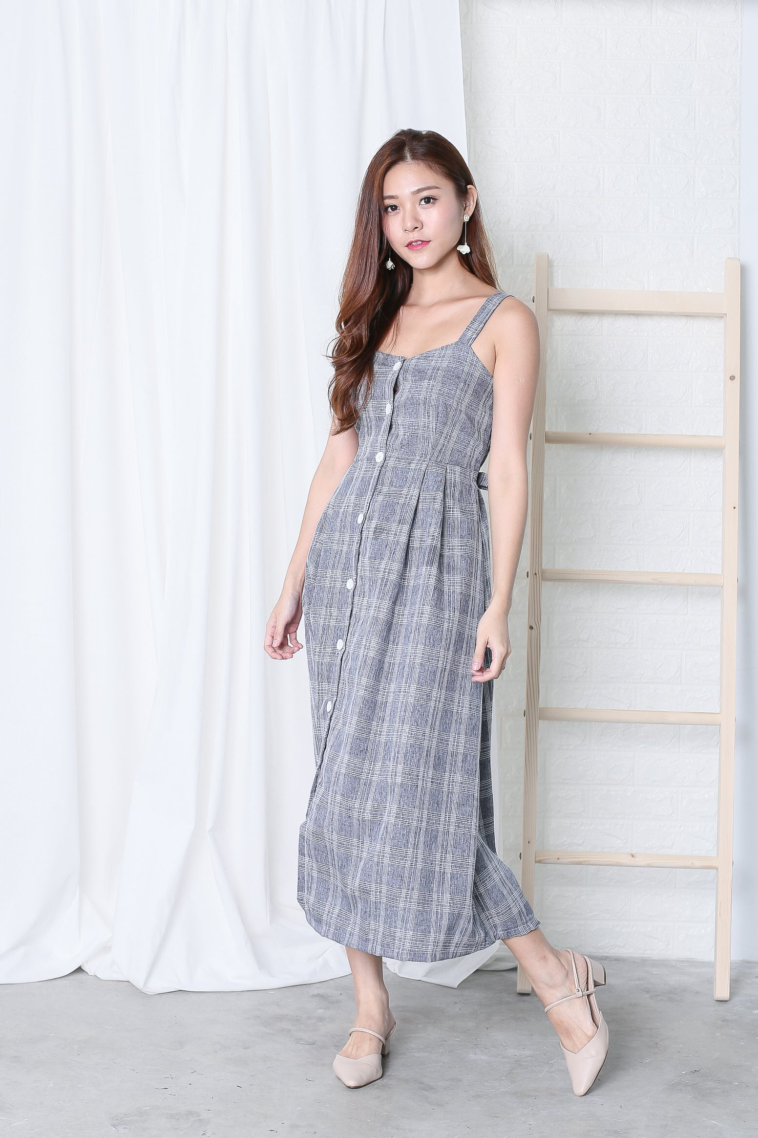 *RESTOCKED* JAVEN BUTTONED DOWN DRESS IN CHECKS