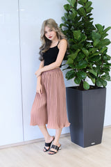 ERR DAY PLEATED CULOTTES IN CAMEL