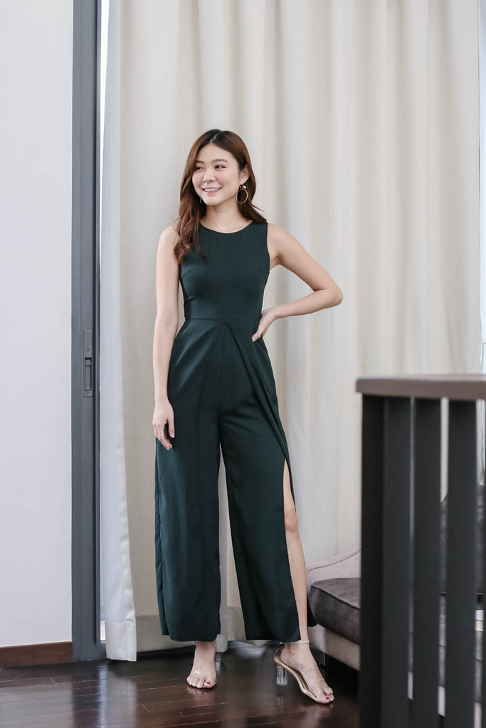 *TPZ* (PREMIUM) GIRL BOSS JUMPSUIT IN FOREST