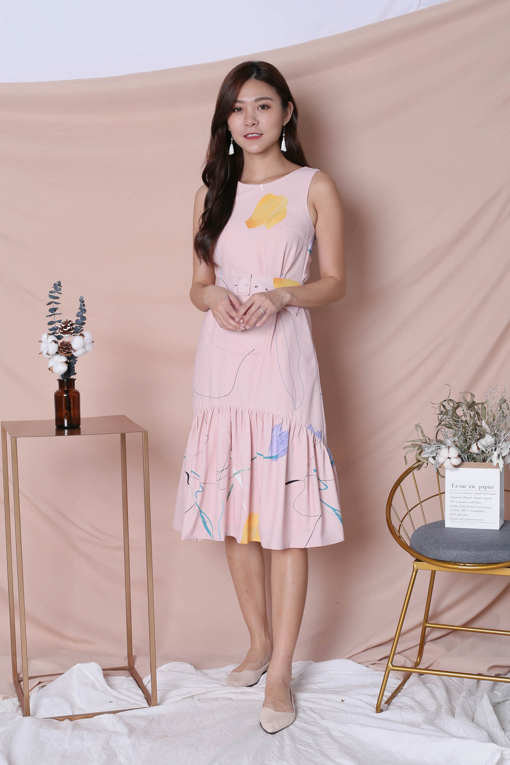 *TPZ* (PREMIUM) NIKO ABSTRACT DRESS IN PINK