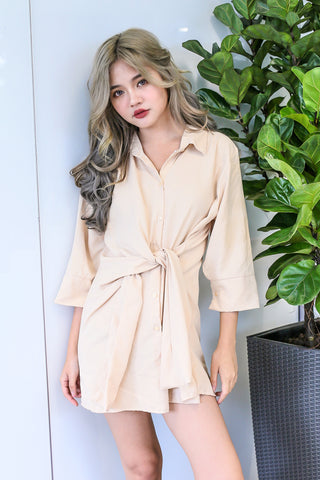 OUT OF BED OVERSIZED SHIRT IN NUDE