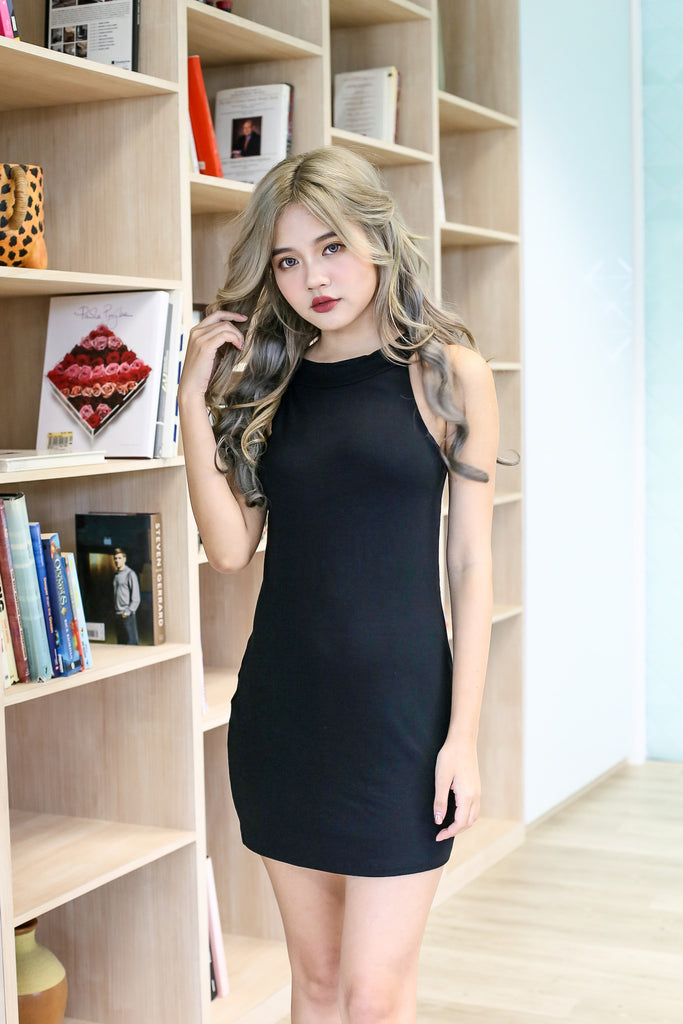 *BACKORDER* EMBERLY DRESS IN BLACK - TOPAZETTE