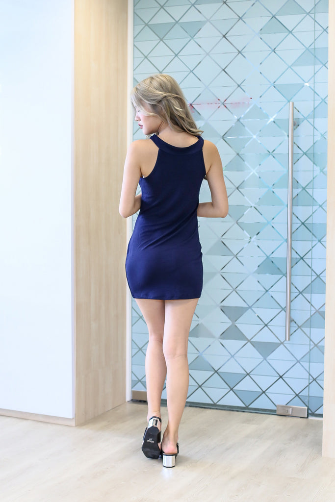EMBERLY DRESS IN NAVY