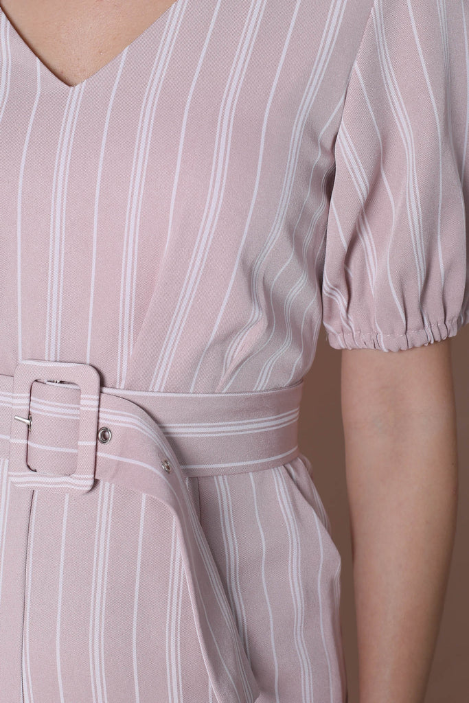 *TPZ* (PREMIUM) AVIA STRIPES JUMPSUIT IN DUSTY PINK - TOPAZETTE