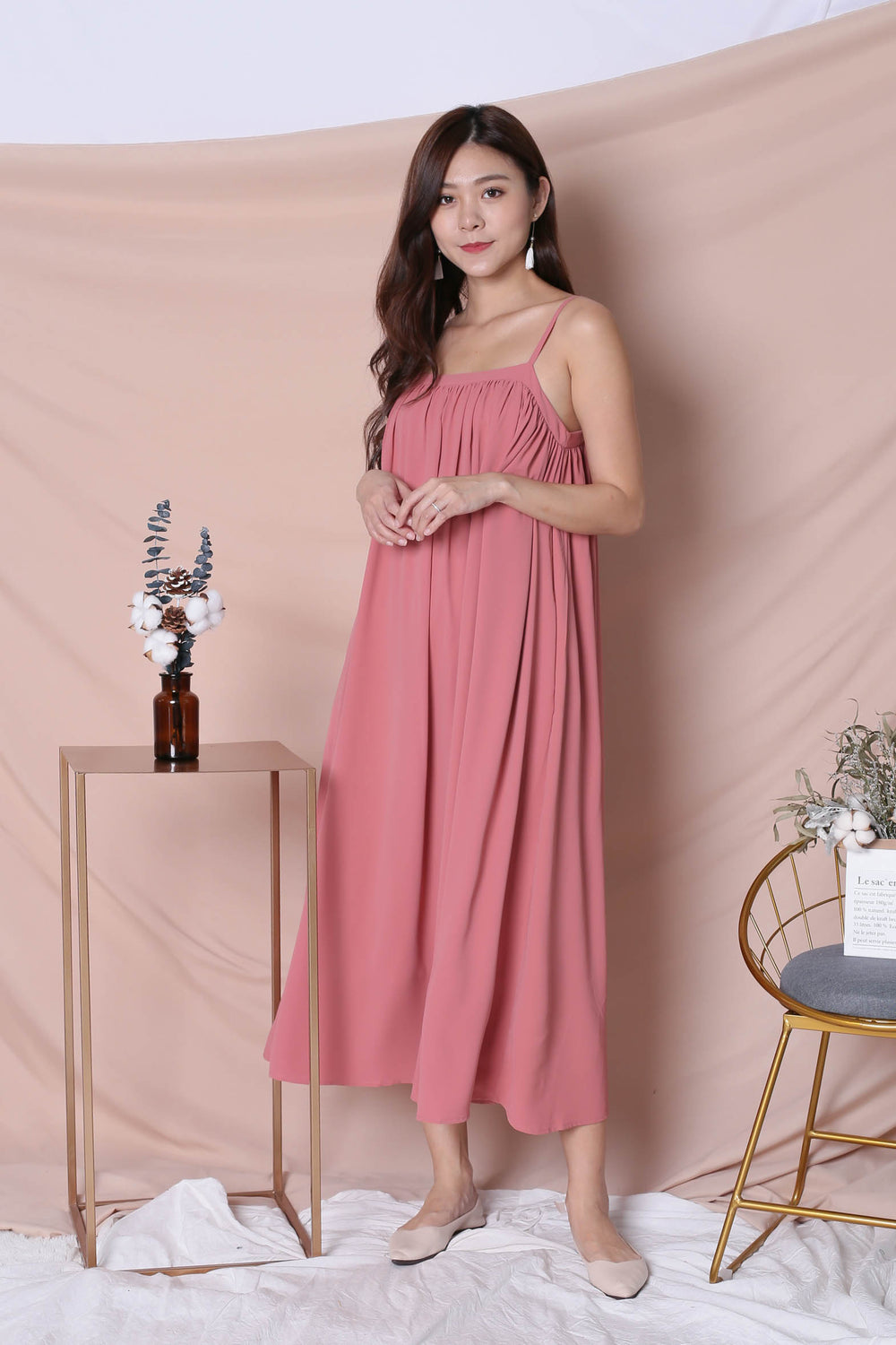 *TPZ* (PREMIUM) SIGNATURE TENT DRESS IN CORAL