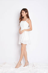 (PREMIUM) MAZEL EYELET WRAP DRESS IN WHITE