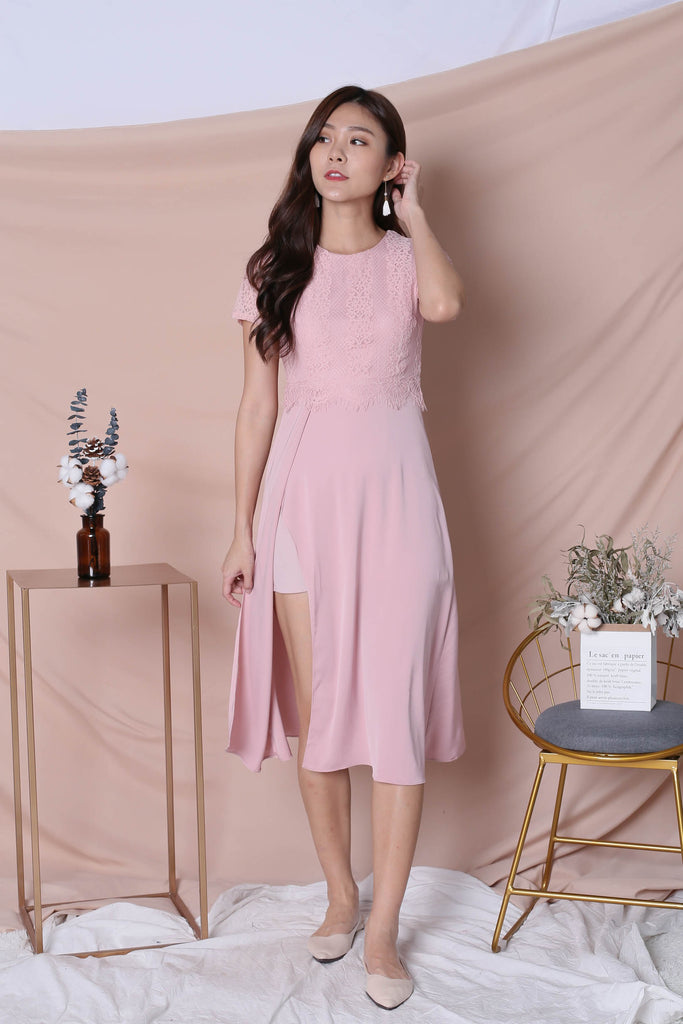 *TPZ* (PREMIUM) MAYRA DRESS IN DUSTY PINK - TOPAZETTE