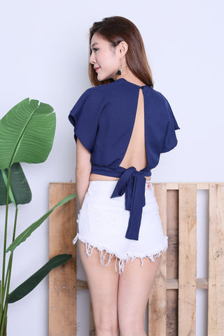 *RESTOCKED* RAE OPEN BACK TOP IN NAVY