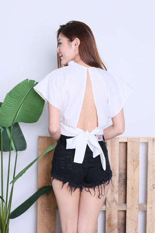 *RESTOCKED* RAE OPEN BACK TOP IN WHITE