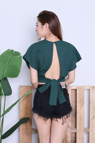 *RESTOCKED* RAE OPEN BACK TOP IN FOREST