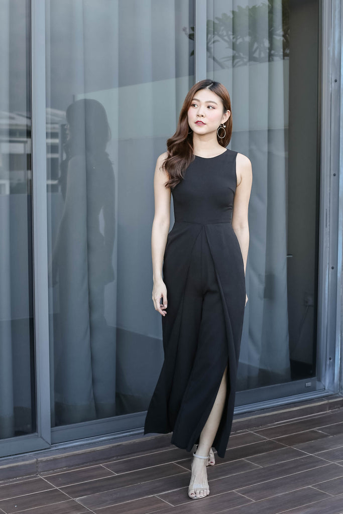 *TPZ* (PREMIUM) GIRL BOSS JUMPSUIT IN BLACK