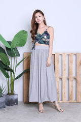 HARTLY PLEATED MAXI SKIRT IN LIGHT GREY