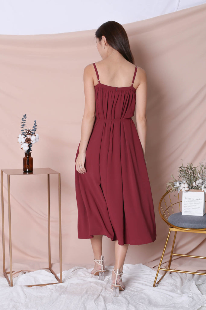 *TPZ* (PREMIUM) SIGNATURE TENT DRESS IN BURGUNDY - TOPAZETTE