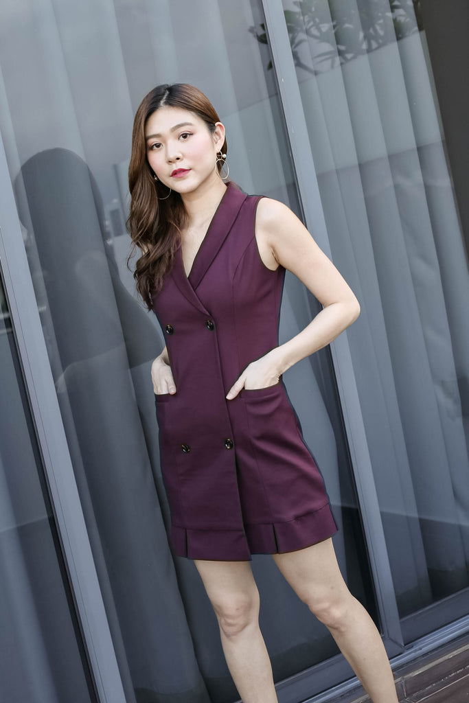 *TPZ* (PREMIUM) GO GET IT TRENCH DRESS IN PLUM