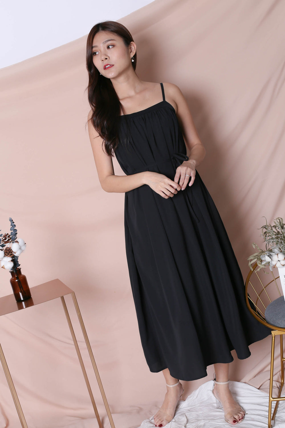 *TPZ* (PREMIUM) SIGNATURE TENT DRESS IN BLACK