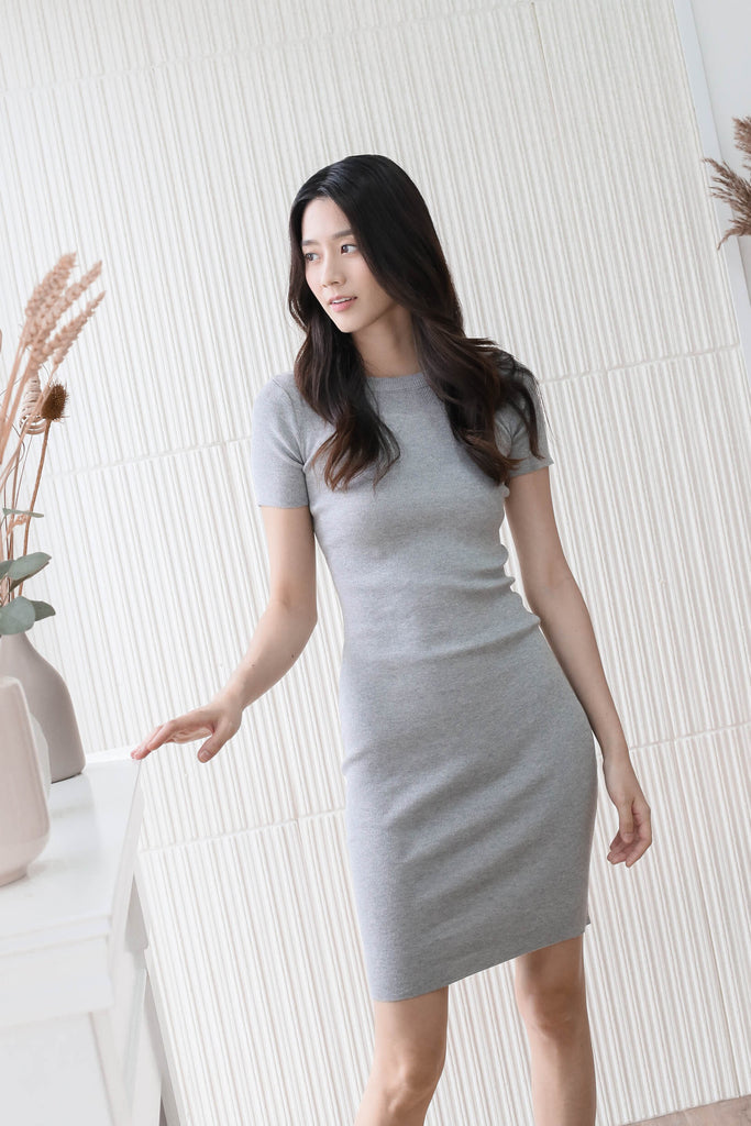 *BACKORDER* MELS KNIT DRESS IN GREY
