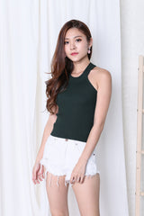 GIA KNIT TOP IN FOREST