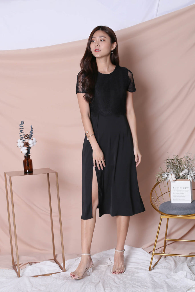 *TPZ* (PREMIUM) MAYRA DRESS IN BLACK - TOPAZETTE