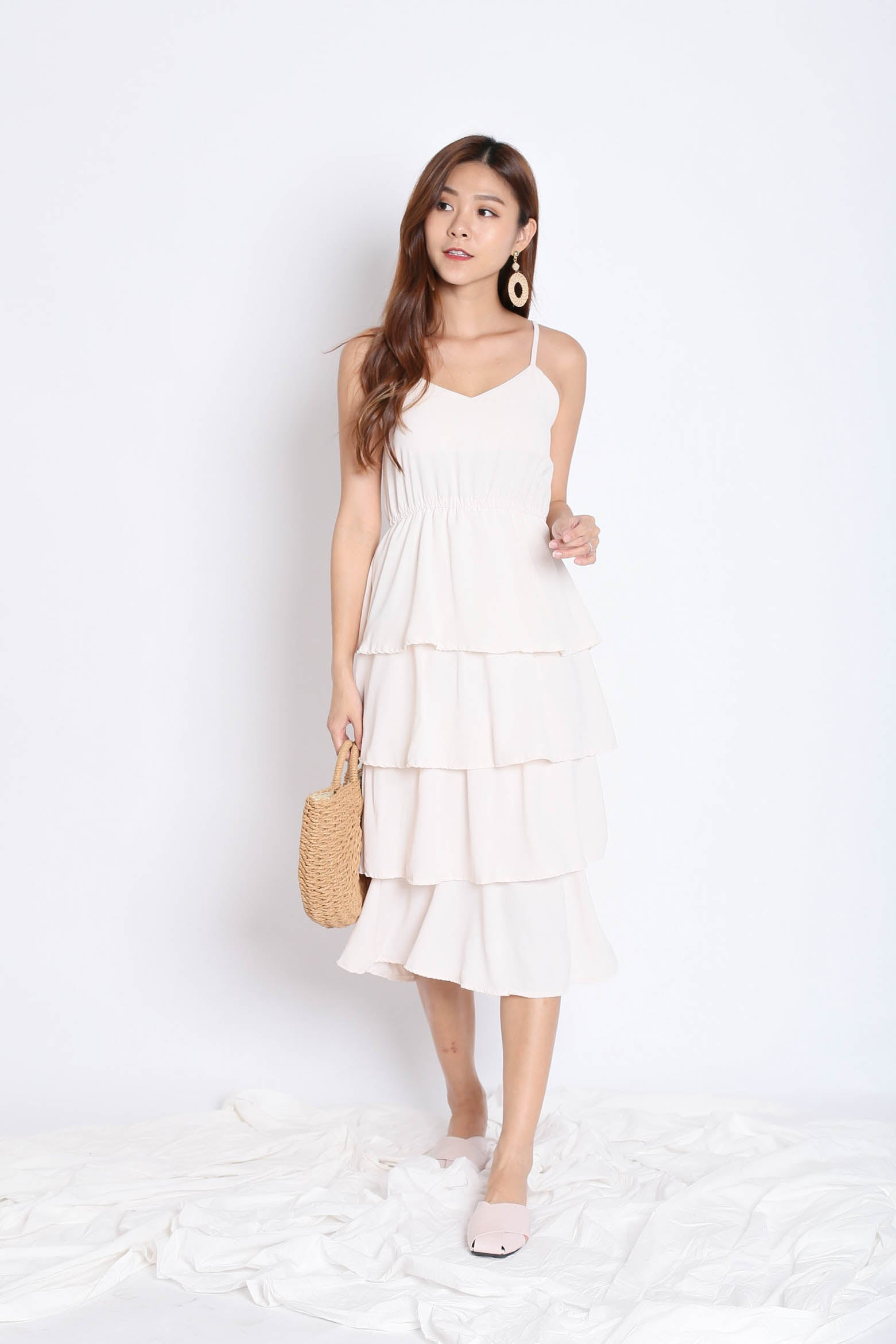 RAEN LAYERED DRESS IN SAND