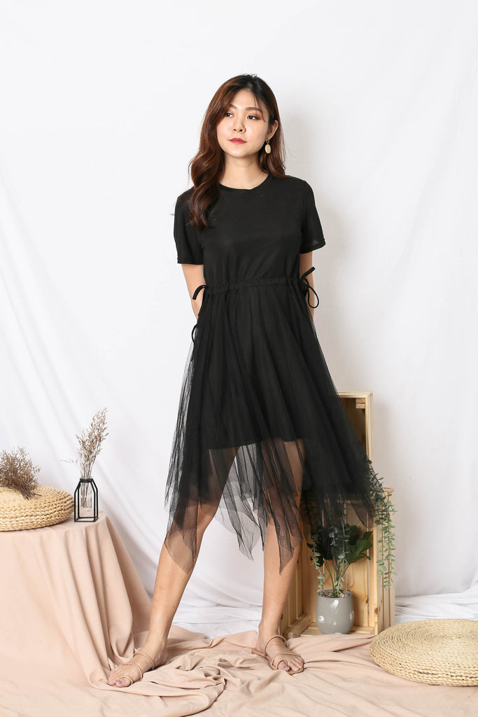 BRYLEIGH TULLE DRESS IN BLACK