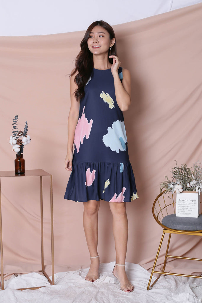 *TPZ* (PREMIUM) KAILA DRESS IN NAVY