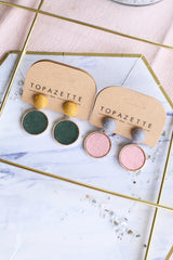 KOREAN COLOURBLOCK EARRINGS