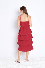RAEN LAYERED DRESS IN WINE