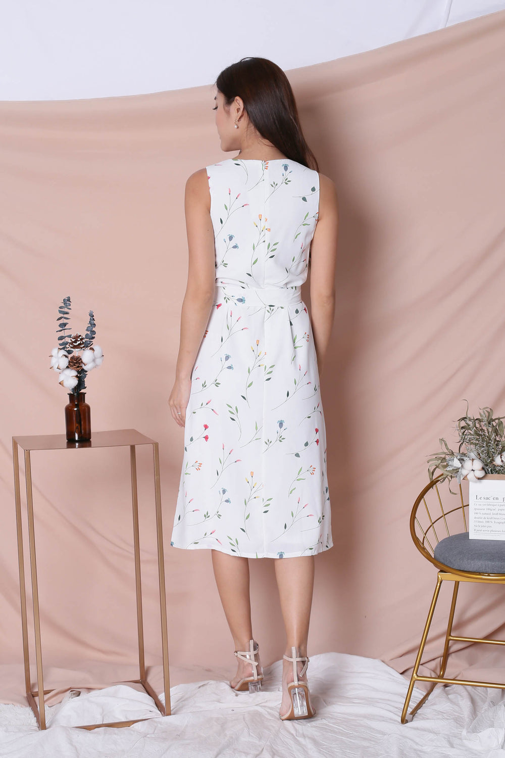 *TPZ* (PREMIUM) GELINE FLORAL DRESS IN WHITE