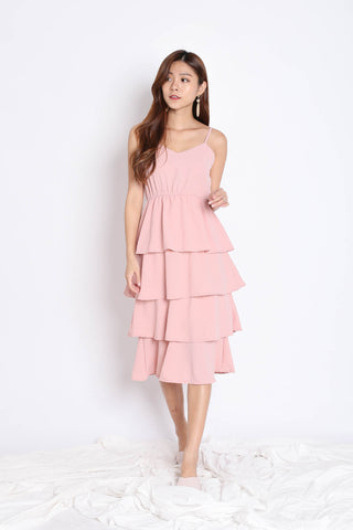 RAEN LAYERED DRESS IN PINK