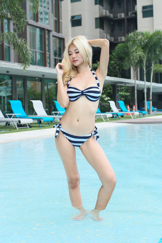 ARIEL BOW BIKINI SET (NAUTICAL STRIPES)